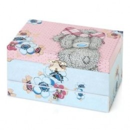 Розово-голубая музыкальная шкатулка для украшений (G01Q6117)