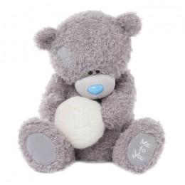 Тедди держит снежок 50 см (G01W3337)