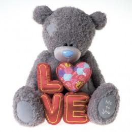 Мишка Тедди Me to you с буквами LOVE в руках 70 см (G01W3344)
