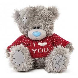 Мишка Тедди в красном свитере I Love You 20 см (G01W3720)