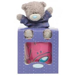 Набор кружка с мишуткой Тедди в синей футболке (G91G0146)