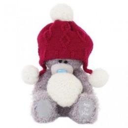 Мишка Teddy в красной шапочке со снежком 18 см (G01W3303)