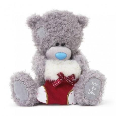 Мишка Тедди с красным носочком, 20 см (G01W3302)