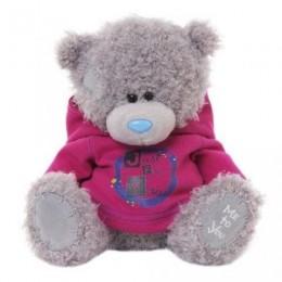 Мишка Teddy в розовой кофточке с надписью JUST FOR YOU 20 см (G01W3282)