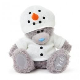 Мишка Тедди в костюме снеговика 20 см (G01W3307)