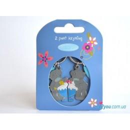 Двойной брелок для ключей Me to you - мишки с тортиком (G01K0136)
