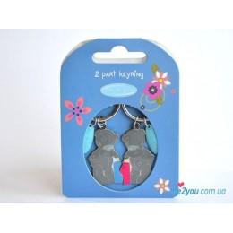 Двойной брелок для ключей Me to you - мишки пьют (G01K0137)