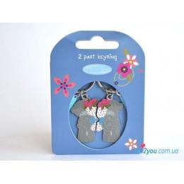 Двойной брелок для ключей Me to you - мишки розами (G01K0138)