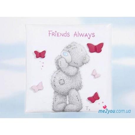 Магнит Me to you Friends always - мечтающий медвежонок (G01Q0483)