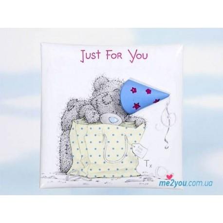 Магнит Me to you Just for you - медвежонок зглядывает в сумочку (G01Q0488)