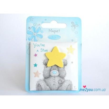 Магнит Me to you- мишка со звездочкой You're a star (G01Q0564)