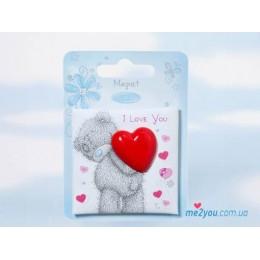 Магнит Me to you Мишка с сердцем I love you (G01Q0565)