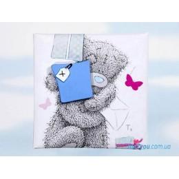 Магнит Me to you- мишка с подарком (G01Q0486)