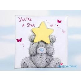 Магнит Me to you - мишка со звездочкой You're a star (G01Q0299)