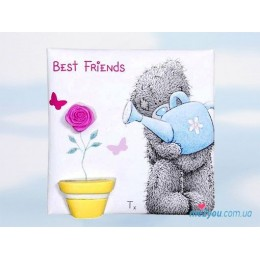 Магнит Me to you Best friends- медвежонок поливает цветочек (G01Q0484)