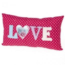 Подушка с Мишкой Тедди с сердцем и надписью Love (G01Q5836)