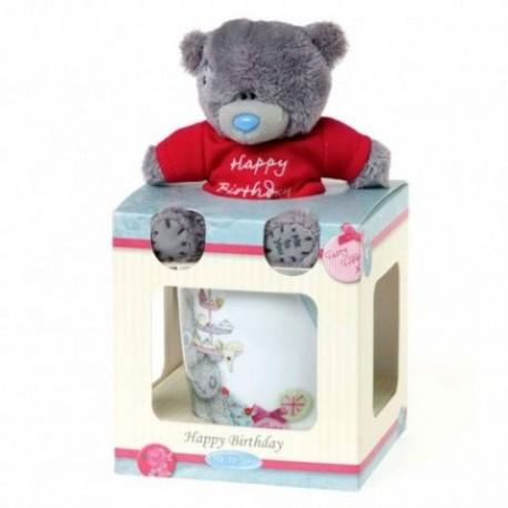 """Набор чашка и мишка """"Happy Birthday"""" (G01G0229)"""