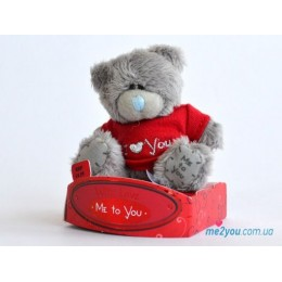 Мишка Teddy в футболке I love you (G01W1720)