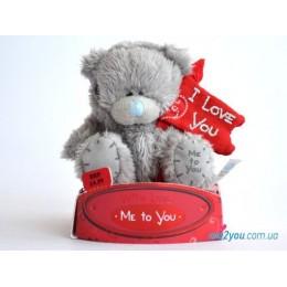 Мишка Teddy с флагом I love you (G01W1703)