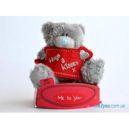 Мишка Me to you с плакатом Hugs&Kisses (G01W1705)