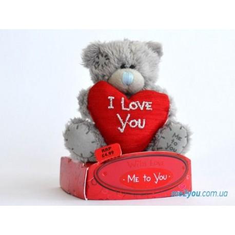 Мишка Me to you держит красное сердце I love you (G01W1721)