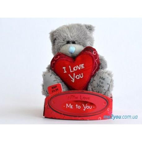 Мишка Тедди держит сердце I love you (G01W1704)