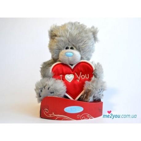 Мишка Me to you с сердцем-плакатом I love you (G01W2028)