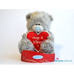 Мишка Me to you с сердцем-плакатом Hugs and kisses (G01W2029)
