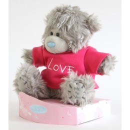 Мишка Тедди в розовой футболочке I love you (G01W2248)