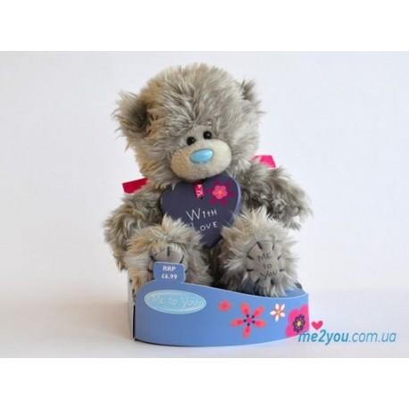 Мишка Тедди с подвеской With love (G01W2079)