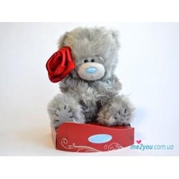 Мишка Me to you с красной розочкой (G01W2030)