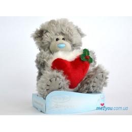 Мишка Тедди с красным сердцем (G01W2025)