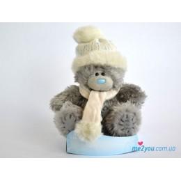 Мишка Тедди в шапочке и шарфике (G01W2012)