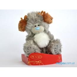 Мишка Тедди в оленьих наушниках (G01W2024)