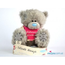 Мишка Me to you в футболочке со словами Friends always (G01W1832)