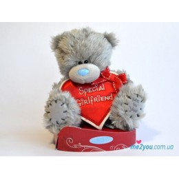 Мишка Тедди с сердцем-плакатом Special Girlfriend (G01W2041)
