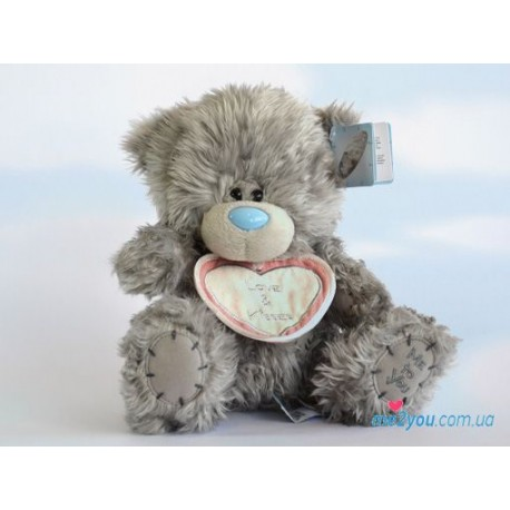 Мишка Тедди с ярлычком Love and kisses (G01W2007)