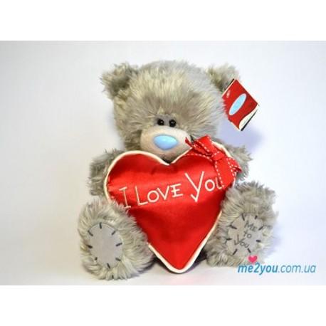 Мишка Тедди с красным сердечком I love you (G01W2045)