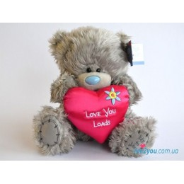 Мишка Тедди с малиновым сердечком (G01W2088)
