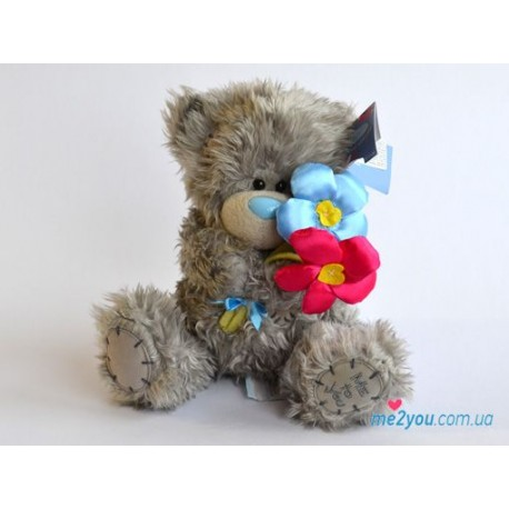 Мишка Тедди с цветочками (G01W2089)