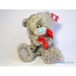 Мишка Тедди с красной розочкой (G01W2047)