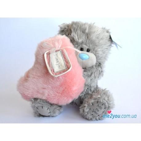 Мишка Тедди держит розовое сердце I love you (G01W2005)
