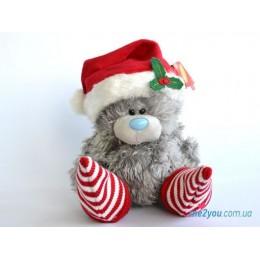 Мишка Тедди в колпачке и носочках с бубончиками (G01W1219)