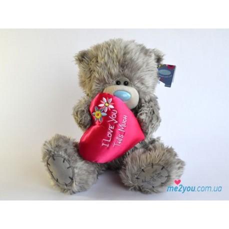 Мишка Тедди с сердцем I love you this much (G01W2093)