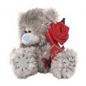 Игрушка Me to you Мишка держащий красную розу с лентой 15 см (G01W0519).