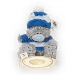 Мишка Me to you в свитере и берете с помпоном 15 см (G01W1242)