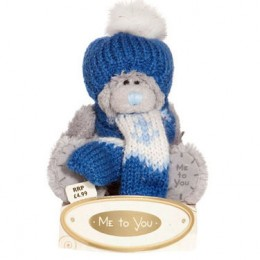 Мишка MTY в шапке и шарфе 7,5 см (G01W1284)