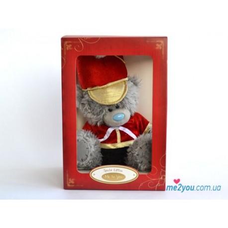 Мишка Ми ту ю в костюме барабанщика и подарочной упаковке 20 см (G01W1930)