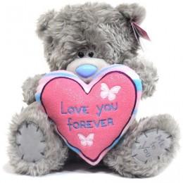 Мишка MTY держит сердце Love you Forever 23 см (G01W2792)