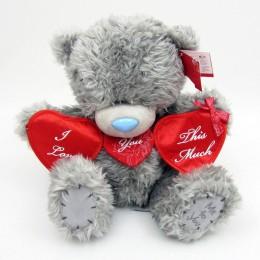 Мишка MTY держит гирлянду сердец I love you this much 25 см (G01W2878)